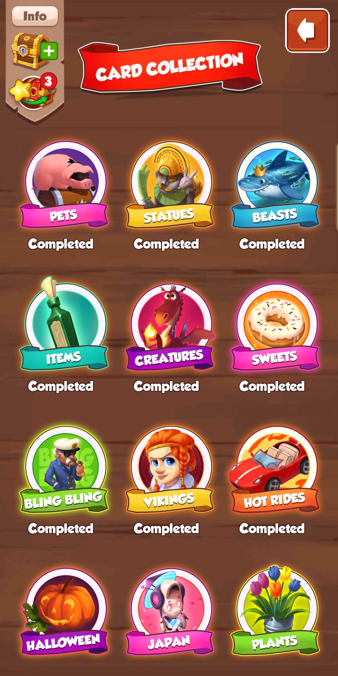 Coin Master All Cards Set