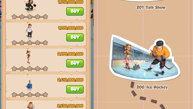 Coin Master Village Cost